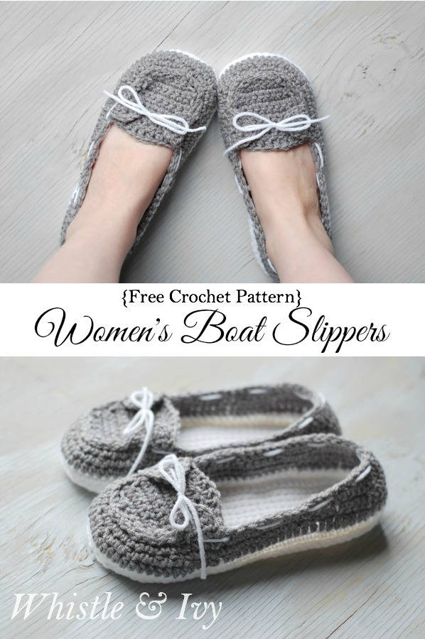ecb36191e Wonderful DIY Crochet Boat Slippers with FREE Pattern