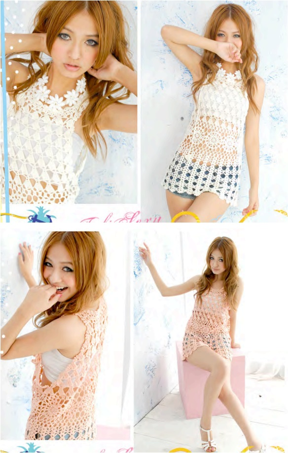 crochet Thai Style tunic summer dress  Wonderful DIY Crochet Summer Dress with Free Pattern