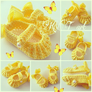 Wonderful DIY Crochet Cute Baby Shoes