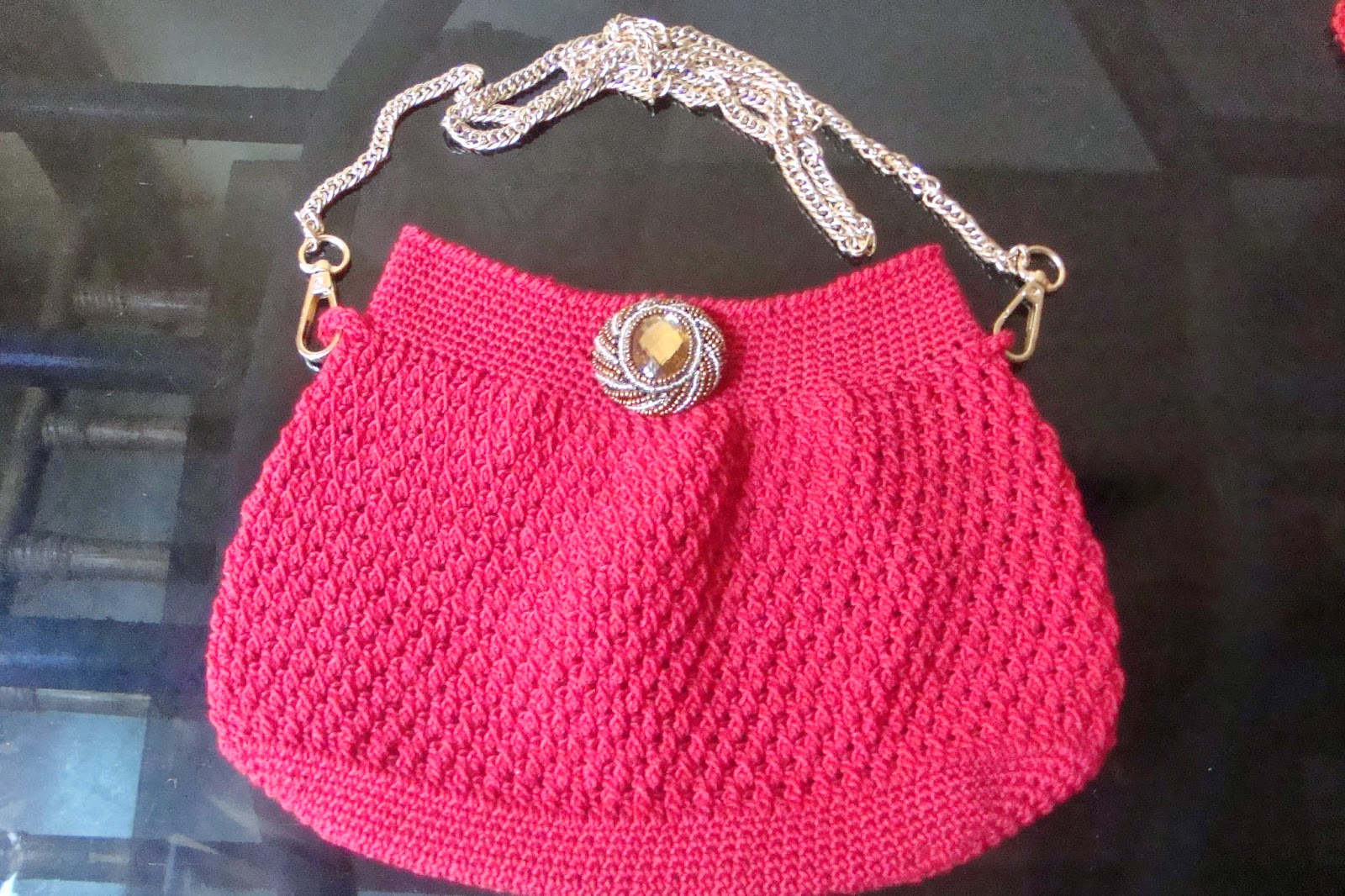 Crochet Generous Evening Purse with FREE Pattern