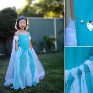 Wonderful DIY no Sewing Frozen Elsa's Dress