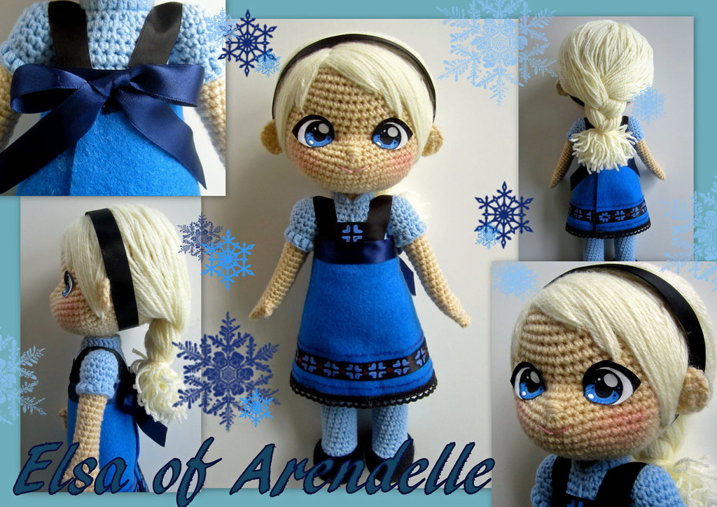 elsa crochet toddler doll free pattern wonderfuldiy Wonderful DIY Crochet Elsa Doll with FREE Pattern
