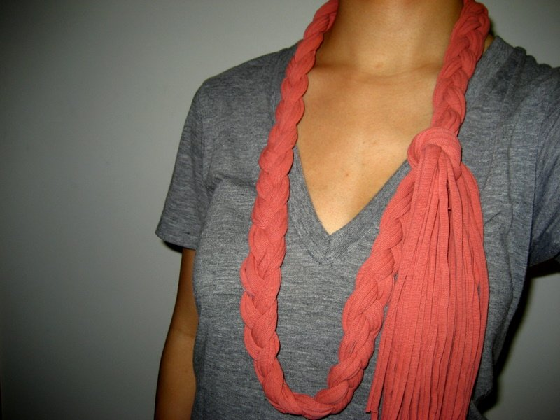 old tshirt becomes cool scarf