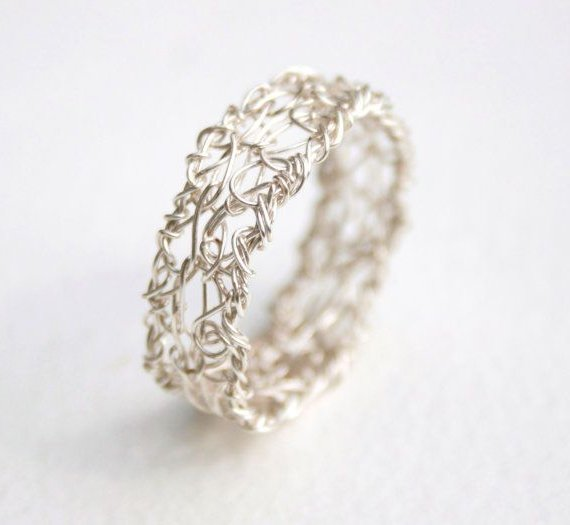 wire crochet ring
