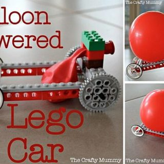 Burn some Rubber with Balloon Powered Lego Car!