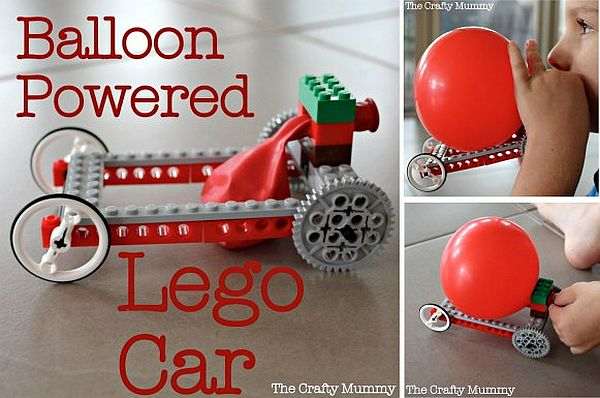 Balloon powered lego car Burn some Rubber with Balloon Powered Lego Car!