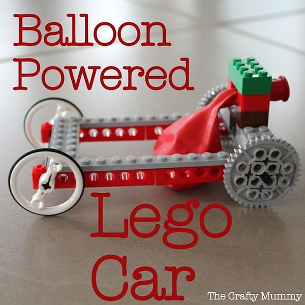 DIY Balloon powered lego car idea Burn some Rubber with Balloon Powered Lego Car!