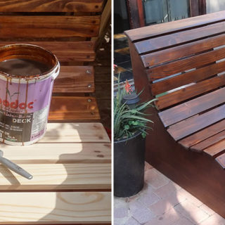 Craft Your Own Slat Garden Love Seat for a Relaxing Evening
