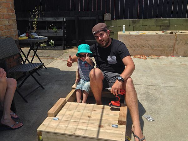 DIY Sandbox Design with Bench