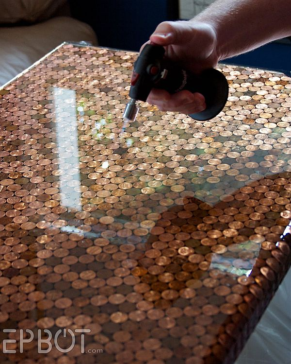 DIY penny table idea