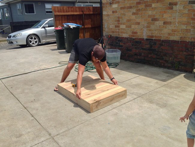 DIY sandbox - wood