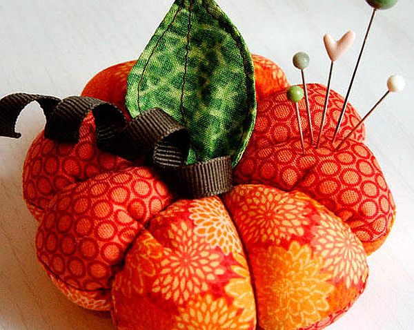 How to Craft Fabric Pumpkin Pincushion Colorful and Plush DIY Fabric Pumpkin Pincushion