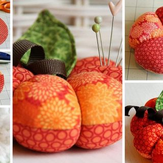 Colorful and Plush DIY Fabric Pumpkin Pincushion