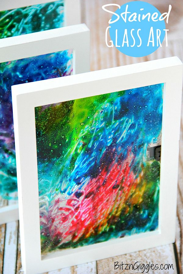 Stained Glass Art Diy Colorful DIY Stained Glass Art to Welcome Spring