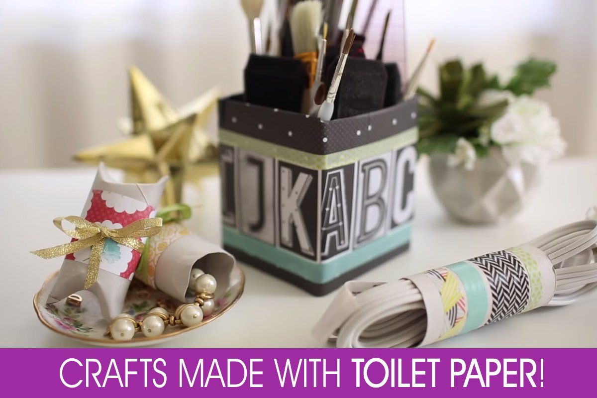 Toilet paper craft ideas Toilet Paper Hacks: Organizing Home Stuff in Style