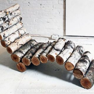 DIY Log Lounger Gives your Backyard an Exclusive, Eco-Friendly Twist