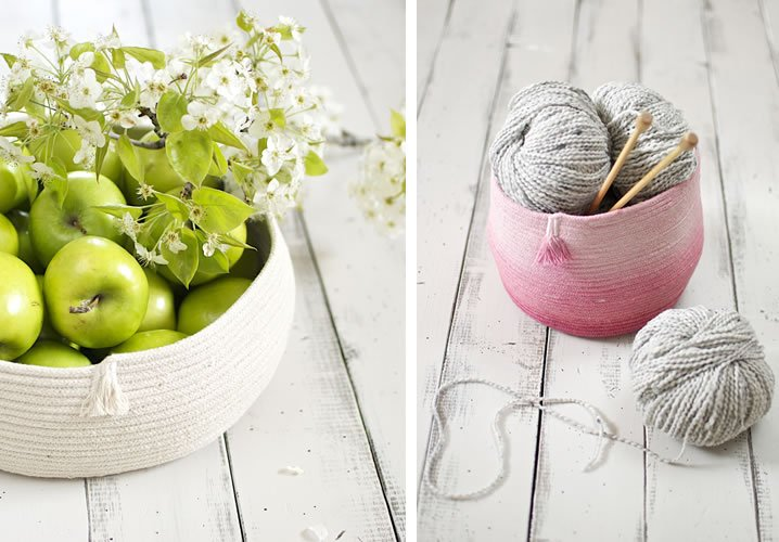cool DIY rope basket
