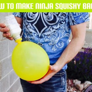 Party Balloons and Flour Turned into Awesome Ninja Squishy Balls!