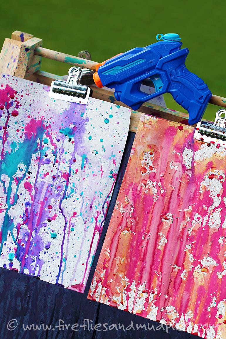 Art - Squirt Gun Painting