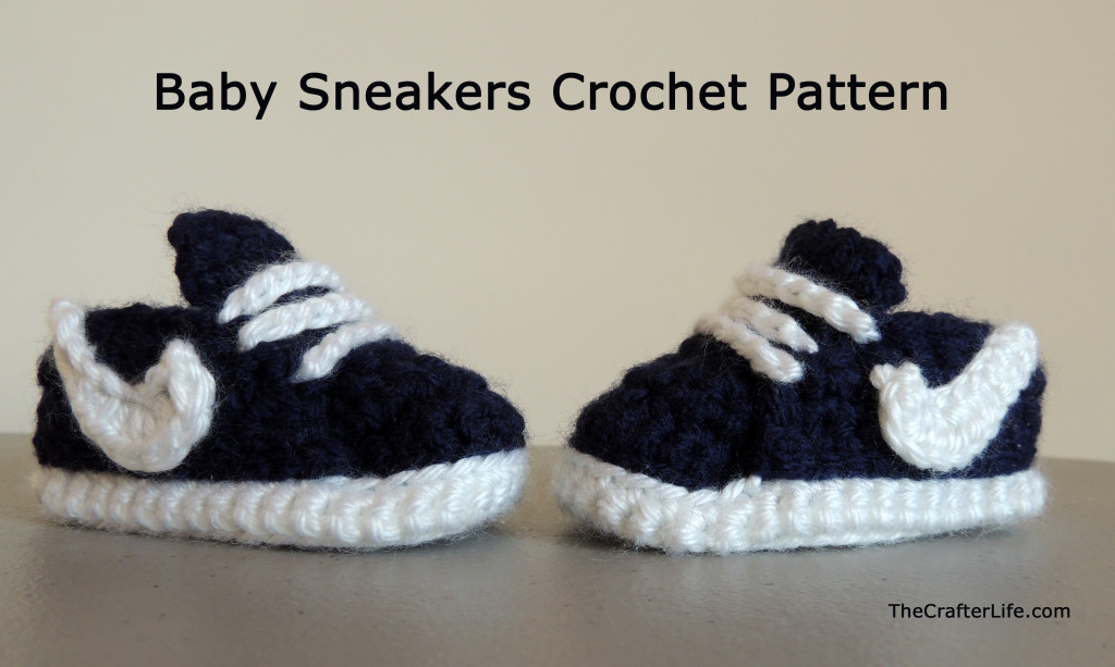 Crochet Baby Sneakers Super Stylish Nike Inspired Crochet Baby Booties