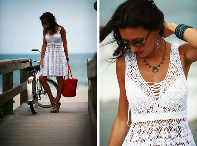 Crochet summer dress pattern