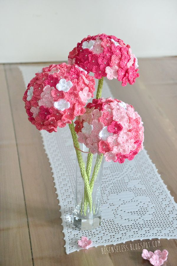 HYDRANGEA crochet flower