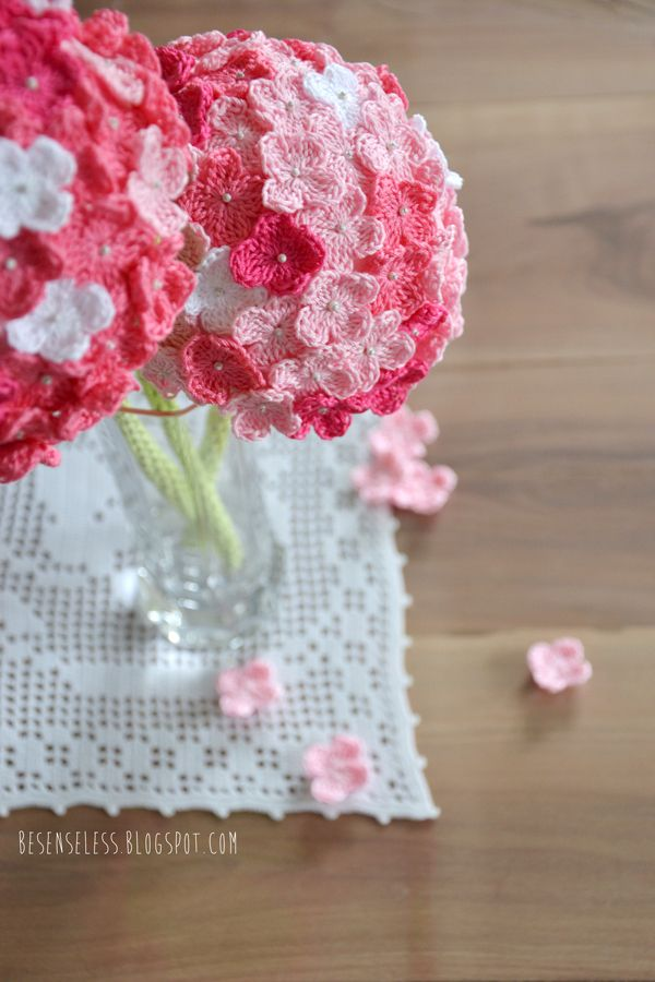 HYDRANGEA crochet idea Simple DIY Crochet Hydrangea – Fabric Flowers Made Fabulous