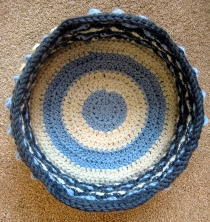 Honeycomb Pop Basket empty Ultra Versatile DIY Crochet Honeycomb Pop Basket