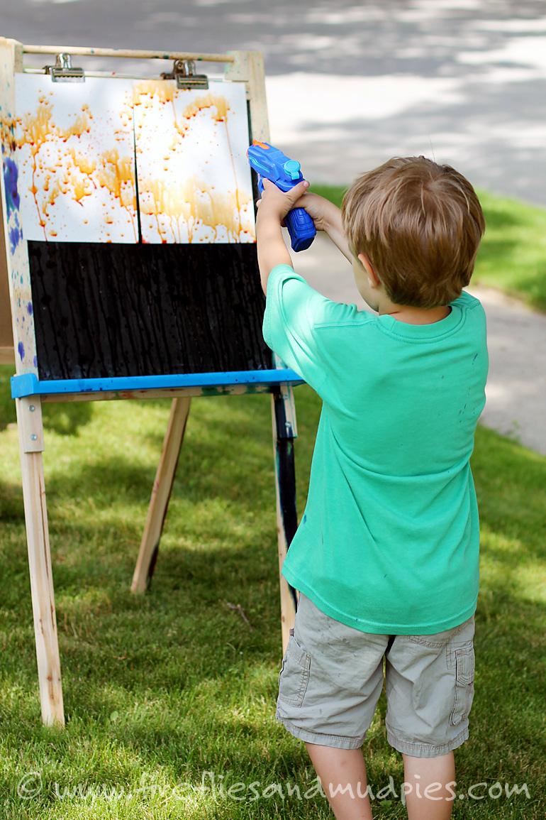 Kids - Squirt Gun Painting