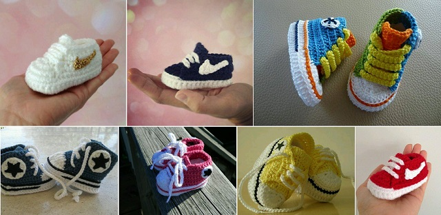 Nike Crochet Sneakers for Kids Super Stylish Nike Inspired Crochet Baby Booties