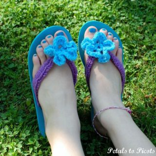 Simply Stunning DIY Crochet Flip Flop Makeover