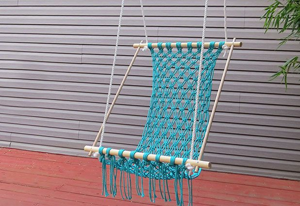 diy macrame hammock Marvelous Macramé Crochet Hammock – Unwind in Style!