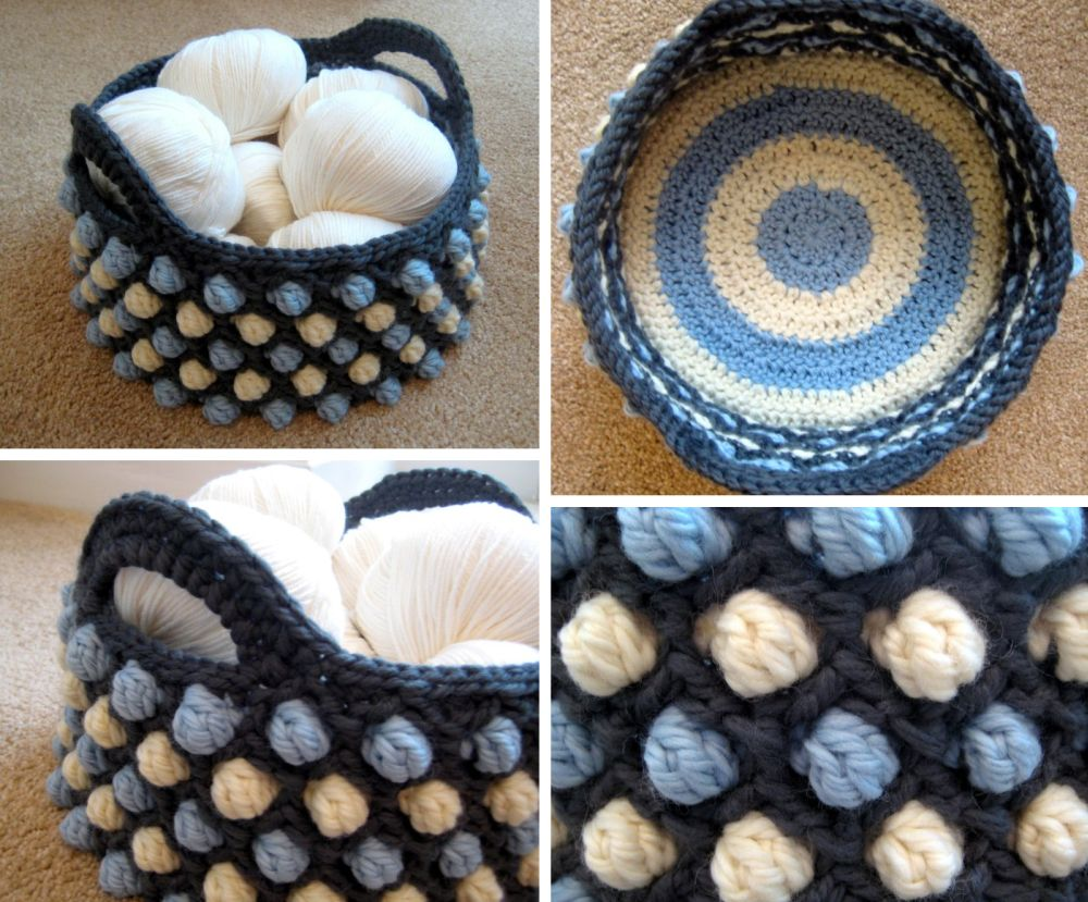honeycomb crochet basket