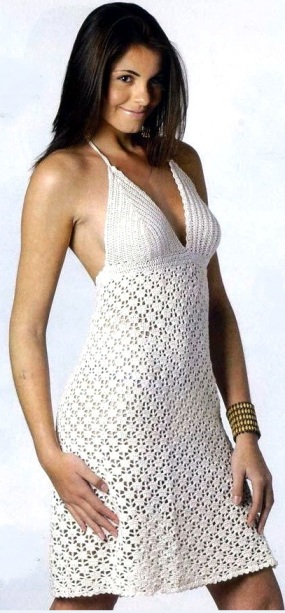 sexy crochet summer dress