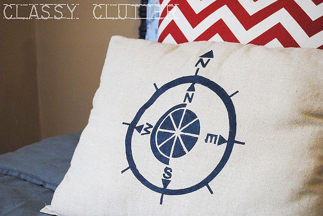 Custom Stenciled Pillows DIY