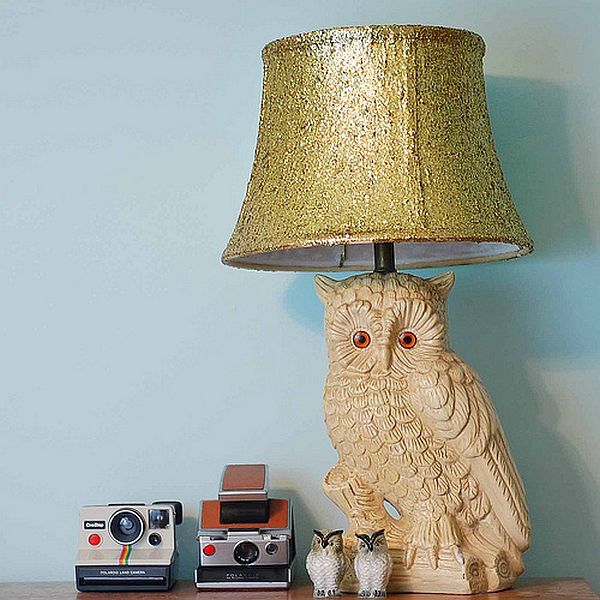 VIEW IN GALLERY DIY Glitter Lamp Shade