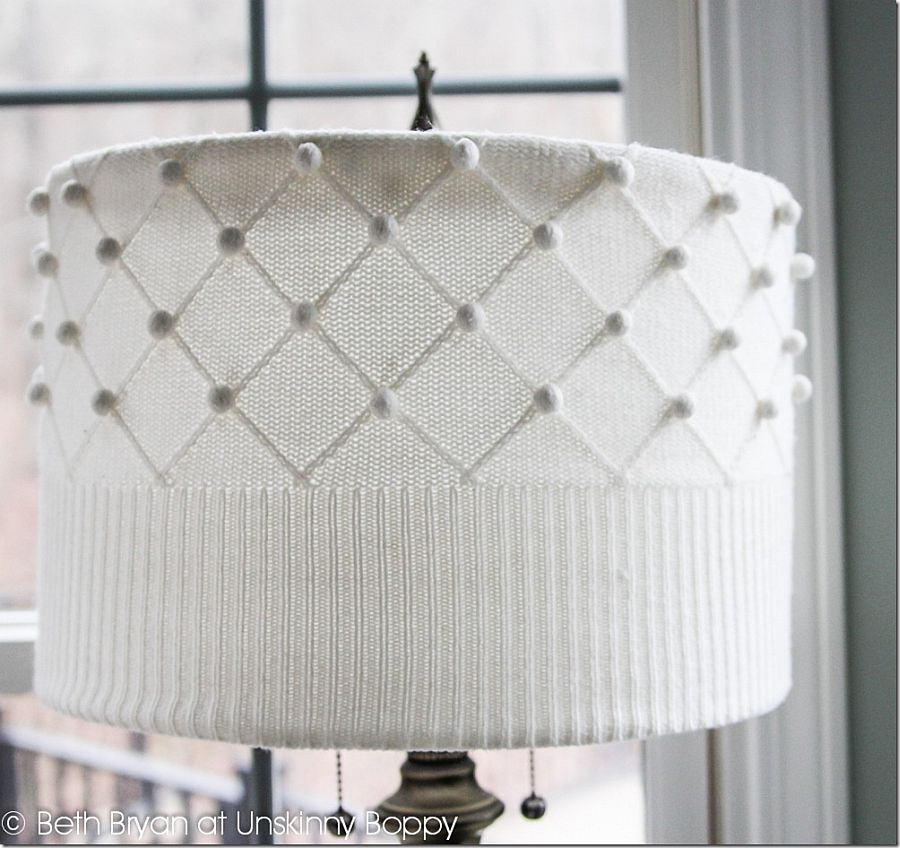 DIY Sweater Lamp Shade