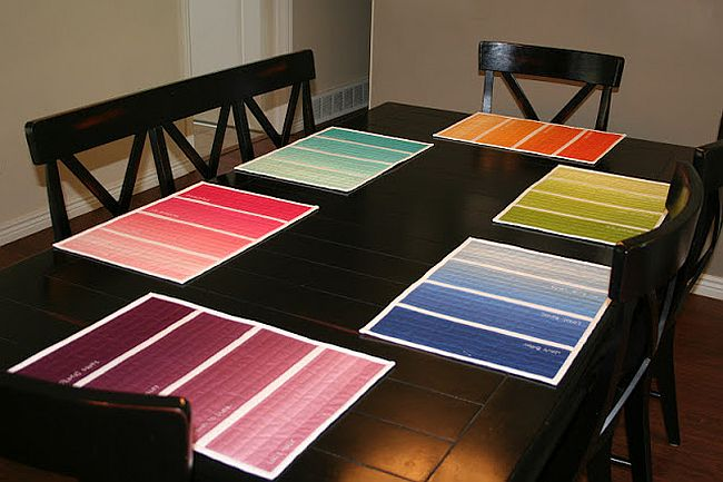 Paint Chip Place Mats