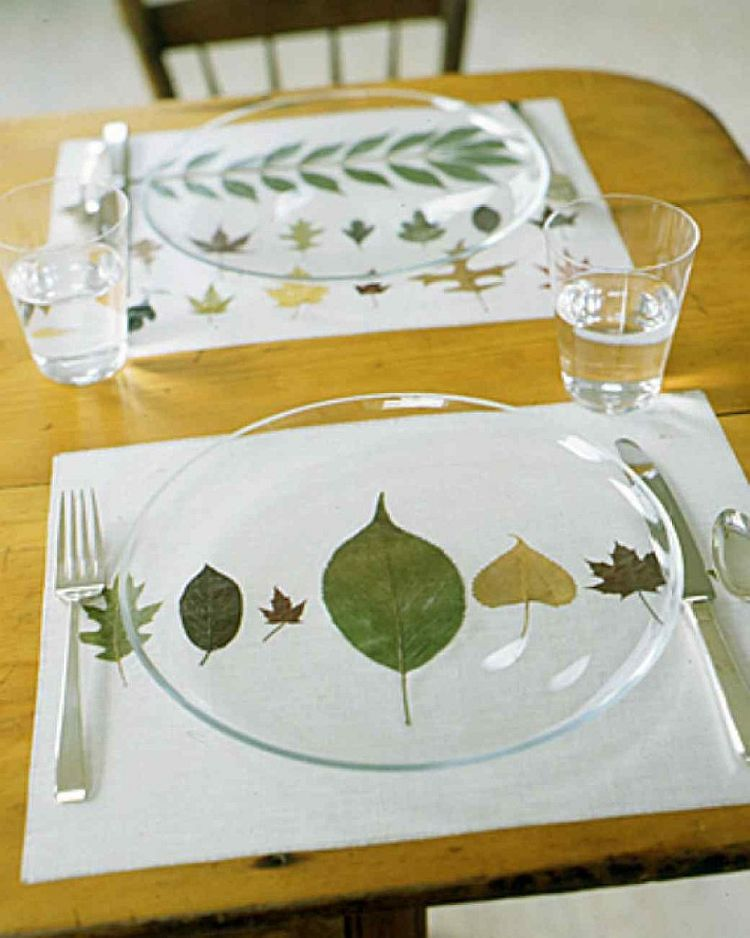 Pressed Leaf Place Mats
