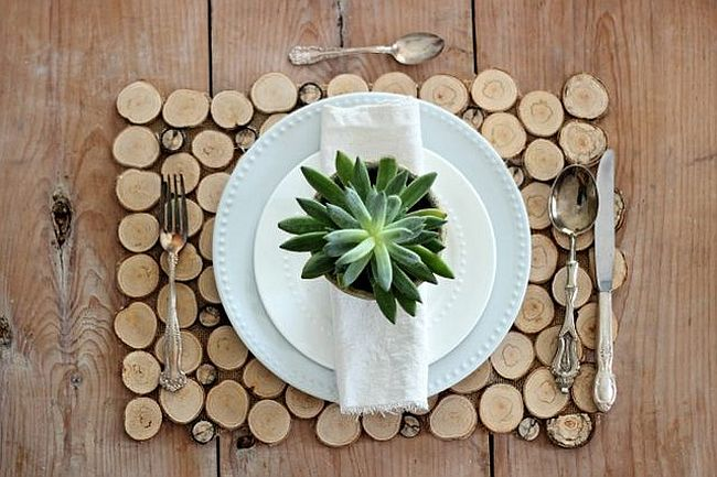 Sliced Birch Branch Place Mats