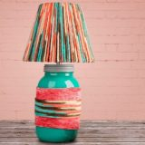 13 Thrifty and Clever Lamp Shade Makeovers