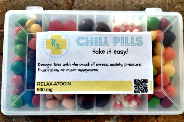 candy chill pills 9 Wonderfully Simple DIY White Elephant Gifts