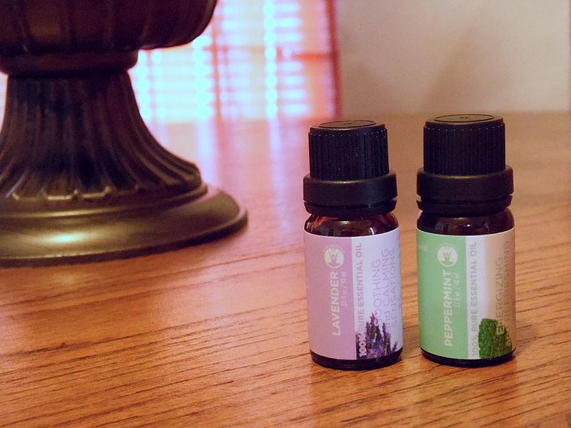 Adding essential oils in an auroma of your choice