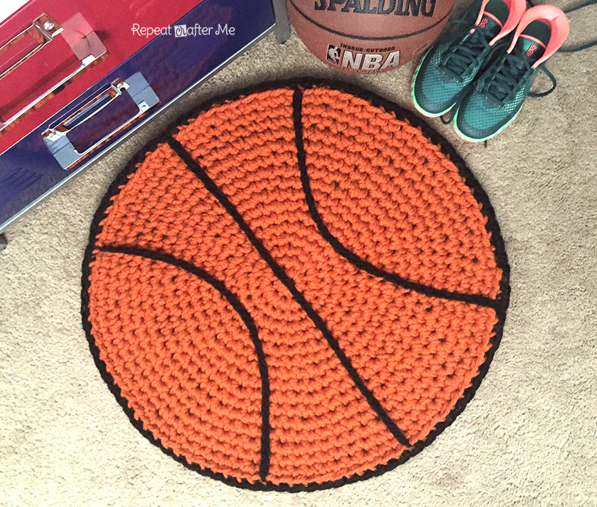 Basketball Crochet Rug