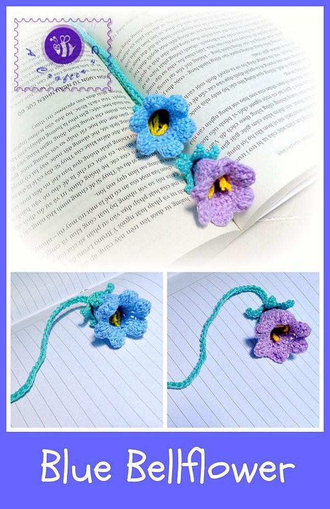 Blue Bellflower Bookmark