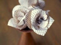 Book Flowers 200x150 Ever Lasting Charm: DIY Paper Flowers for Your Home