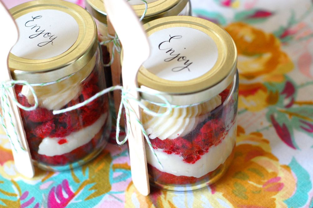 Cake in a jar - DIY gifts