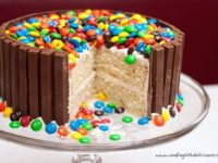 Candy Decorated Cake 200x150 Easy Birthday Cake Decorating Ideas