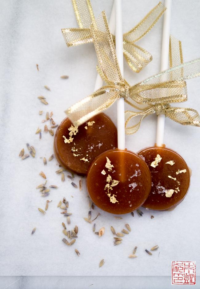 Caramel-Lavender-Fleur-de-Sel-Lollipops