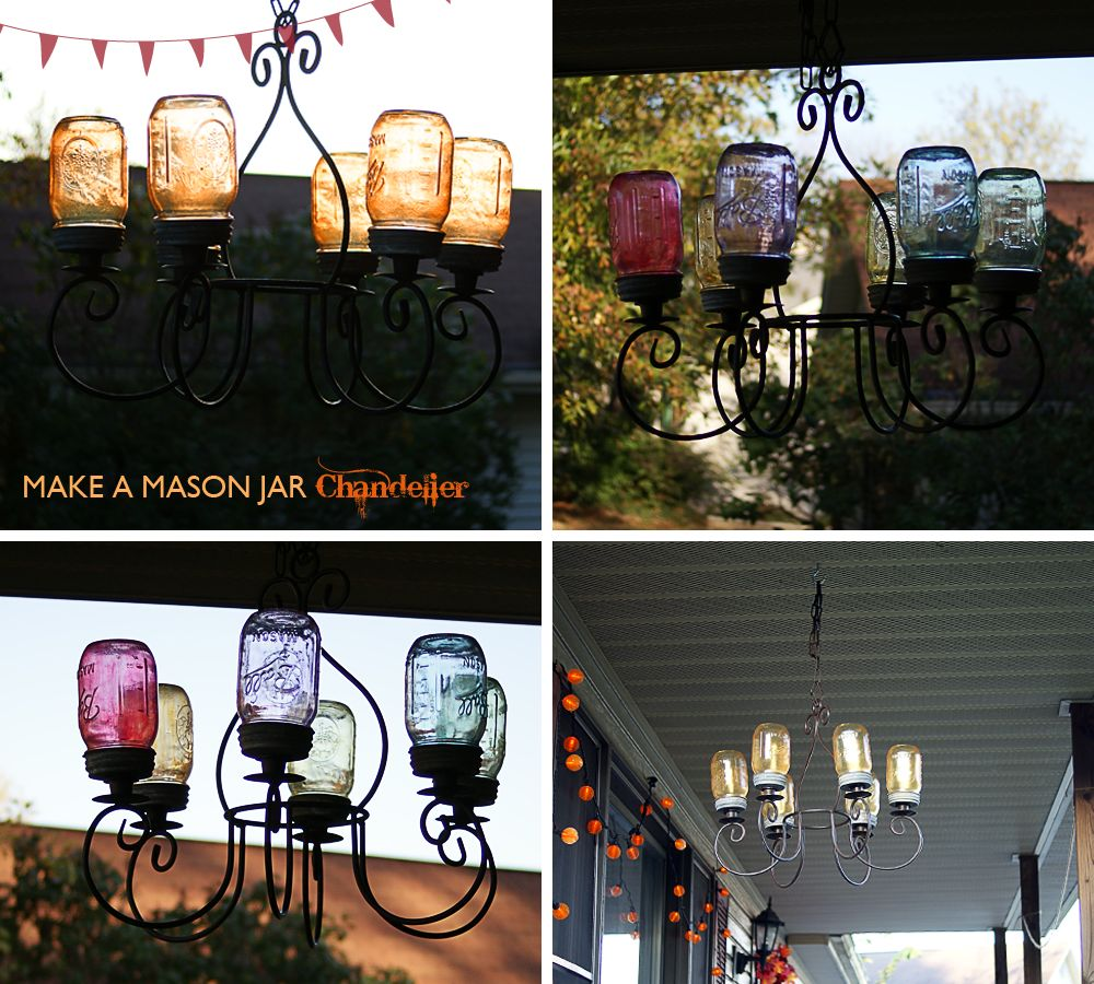 Chandelier from Ball mason jars